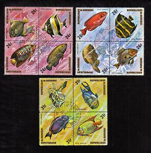BURUNDI   1974 FISH SCOTT# C210-212