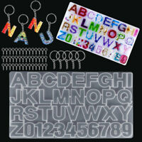 Alphabet Letter Number Silicone Mold Necklace Jewelry Resin Mould DIY Tool