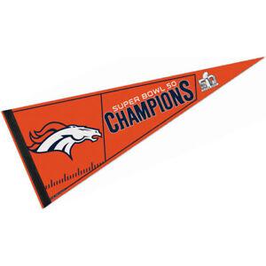 Denver Broncos 2016 Super Bowl Champs Pennant Flag