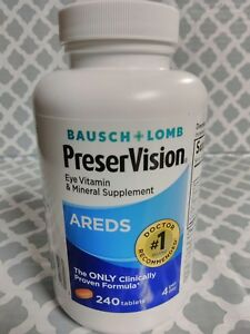 Bausch Lomb Preservision Areds Eye Vitamin Mineral Supplement 240 Tabs,  09/22
