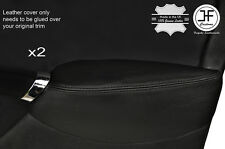 BLACK STITCH 2X FRONT DOOR ARMREST LEATHER COVERS FITS ROVER 75 & MG ZT 99-05