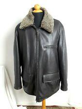 Veste cuir marron marlboro Classics homme T.XL Man Brown leather jacket Marlboro