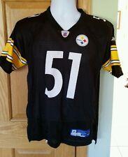 VINTAGE Pittsburgh Steelers Youth Large J.Farrior 14-16 Reebok On Field  Jersey 77f42feb1