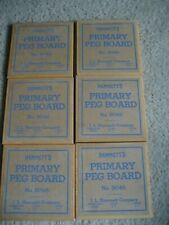 Vintage Hammett.s Primary Peg Boards WOOD Set of 6  USA MADE