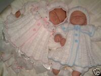 CROCHET PATTERN**TWIN SAILOR**BABY / REBORN MATINEE SET