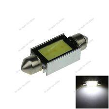 1X White 39MM 1 COB PVC Festoon Dome Map Interior LED Light Lamp Roof Bulb I220