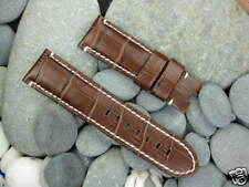 New 24mm Extra Large Deployment Leather Strap Watch Band PAM Choco Brown XL