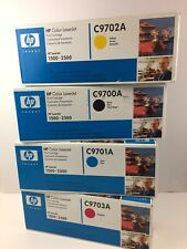 4 Genuine HP Color LaserJet 1500 2500N Printer TONER C9700A C9701A C9702A C9703
