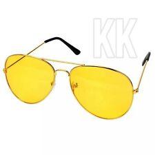 Gafas de conducción nocturna visión antirreflejo HD Lente Amarillo Piloto de teñido