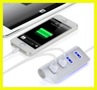 4 Port Aluminum USB  2.0 Hub charge  high speed for Macbook Air Laptop PC Tablet