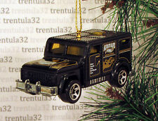 """ALWAYS SAFE"" ARMORED TRANSPORT CAR TRUCK BLACK GOLD CHRISTMAS ORNAMENT XMAS"