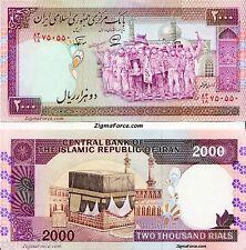 2000 Rials Banknotes Iran Persian UNC P141j Sign. 27 Rare Consecutive