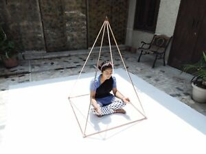 """3 Feet Nubian Pyramid 1/2"""" copper tubes+connectors +528 Tuning fork free"""
