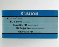 Bedienungsanleitung Canon FD Vario Objektive Anleitung
