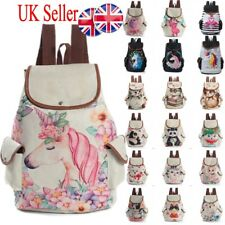 UK Girls Unicorn Backpack Rucksack Cartoon College School Travel Laptop Bag Gift