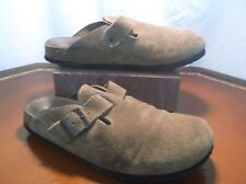 American Eagle Light Brown leather Suede Clog Sandals Women's Sz. 7 US