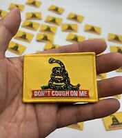 """Don't Cough On Me"" Glow in the Dark 2""x3"" morale patch with Hook Back"