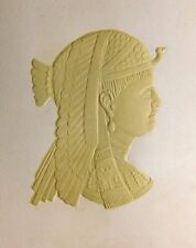Queen of Egypt Cameo Fab Extremely Heavily Embossed Raised Image Trade Card F46