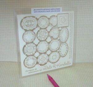 Miniature Dale Kendall Laser-Cut Paper Doilies - 15 Assorted! Dollhouse 1:12