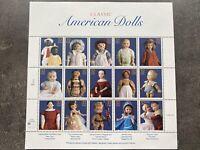 USA Briefmarken Bogen 15x 32 Cent 1996 Classic American Dolls #30597-S