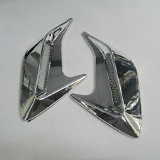 Car Chrome Side Hood Cover Badge Air Intake Flow Vent Fender Decoration #VA11