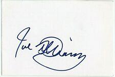JOE WILLIAMS AUTOGRAPHED SIGNED 4x6 INDEX CARD SIGNATURE ORIGINAL JAZZ LEGEND