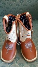 DBL BARREL Western Boots Boys size 5 Cowboy TODDLER  Zip brown 4411402