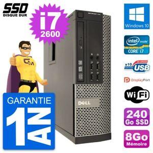 PC Dell OptiPlex 790 SFF Intel Core i7-2600 RAM 8Go SSD 240Go Windows 10 Wifi