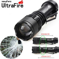 Ultrafire 50000LM Q5 LED Flashlight Zoomable Mini Torch Light Lamp AA 14500 _