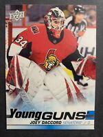 2019-20 Upper Deck Series 2 Young Guns #477 Joey Daccord Ottawa Senators RC