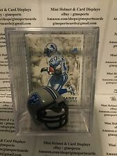 Barry Sanders Detroit Lions Mini Helmet Card Display Case Collectible HOF Auto