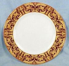 Lynns China Valetto Red Salad Plate Yellow Tan Scrolls Dinnerware 7.5 inch