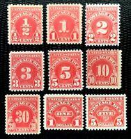 1930 US Postage Due Stamps #J69 J70 J71 J72 J73 J74 J75 J77 J78