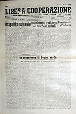 * LIBERA COOPERAZIONE N° 8/ 1/AGO/1961 *ORGANO ASS.GENERALE COOPERATIVE ITALIANE
