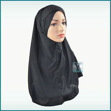 One Piece Amira Hijab with Criss Cross Bonnet Ready Made Scarf pull on Headscarf