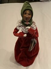 2011 Byers Choice Woman Caroler with Musical Instrument Harp