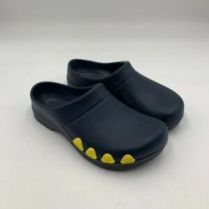 Jolly By Alsa Green Wo's Sz 7/38 EUR Garden Clogs Shoes Blue Yellow (MEN'S Sz 5)