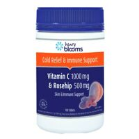 Henry Blooms Vitamin C 1000mg & Rosehip 500mg 180 Tablets Skin & Immune Support