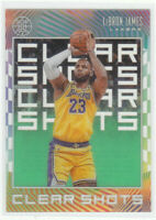 2019-20 Illusion LEBRON JAMES CLEAR SHOTS GREEN ACETATE LOS ANGELES LAKERS