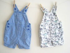 New baby boys dungarees 2 styles ex nXt age nb 0-3 3-6 9-12 12-18 months