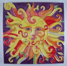 Tropical Sun Sunshine Ceramic Tile Art  6X6 Inches Vivid Colors