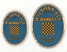 Uk Manchester_Wembley_Wilson Ale Beer (2) Label Excellent Unused Palatine 1950's