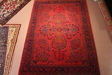 6' x 9' HANDMADE Sarouk  hand knotted ORIENTAL soft wool RED sarook