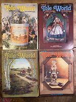 1982/1983 Vintage Tole World Art Painting Craft Pattern Magazine Lot of 4 Issues