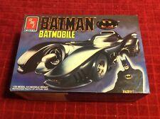 Vintage 1989 Ertl Amt Batman Bat Mobile Comic Super Hero Car Model Kit #6877