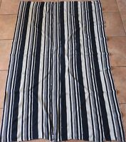 "Vintage Dogon,Mali Indigo Dyed Striped Fabric/Hand Woven Cotton Strips/39""x60"""
