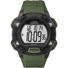 Orologio Uomo TIMEX SHOCK TW4B09300 Digitale Silicone Verde Nero Chrono Timer
