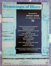 Ringo Starr ORIG US Sheet Music Book Beaucoups of Blues '70 EX Beatles