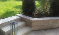 Natursteinmauer Gartenmauer Mauersteine Travertin Antik Noce Wohnrausch 1 Stück