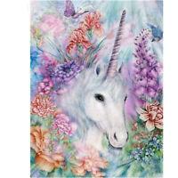 1set Diamond embroidery flower unicorn diamond painting Cross Stitch home decoFO